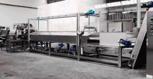 Linea industriale di pastorizzazione a vapore pasta fresca