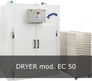 Dryers for dried pasta, long and filled. EC 50