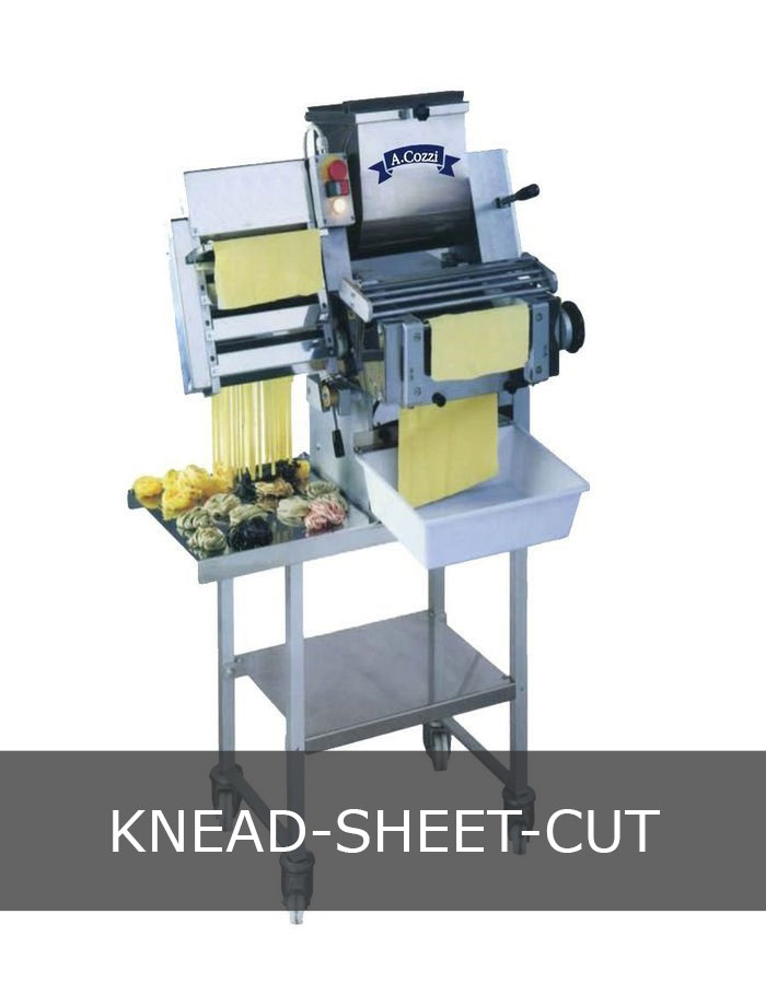 Knead, sheeter, cut