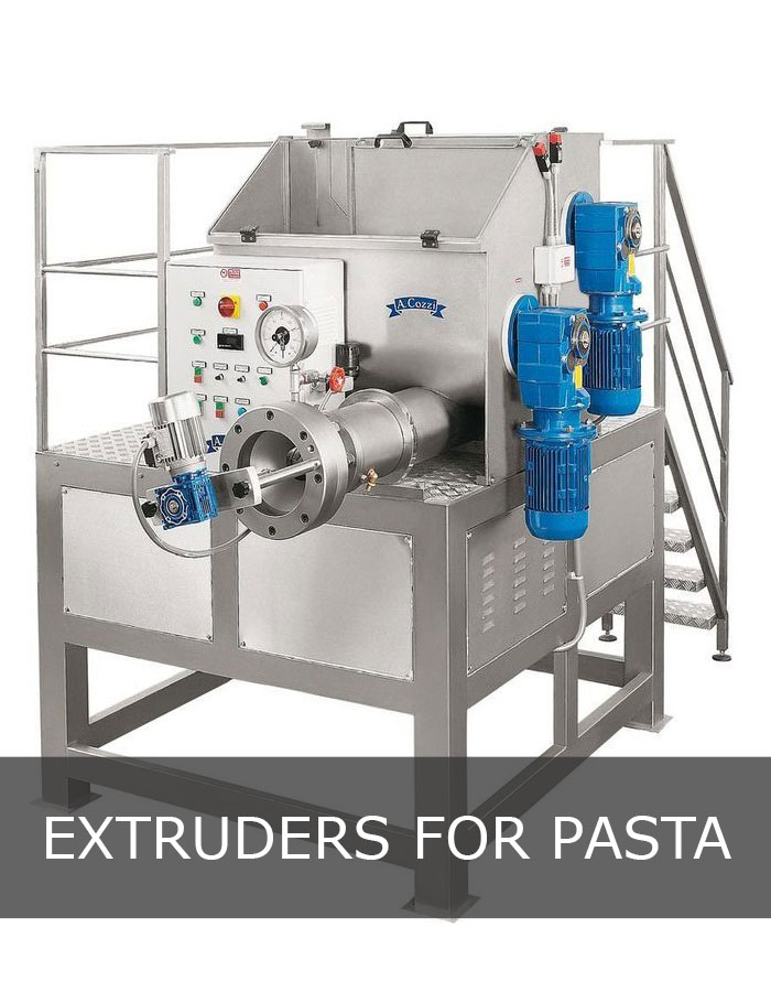 Machine for pasta extruded
