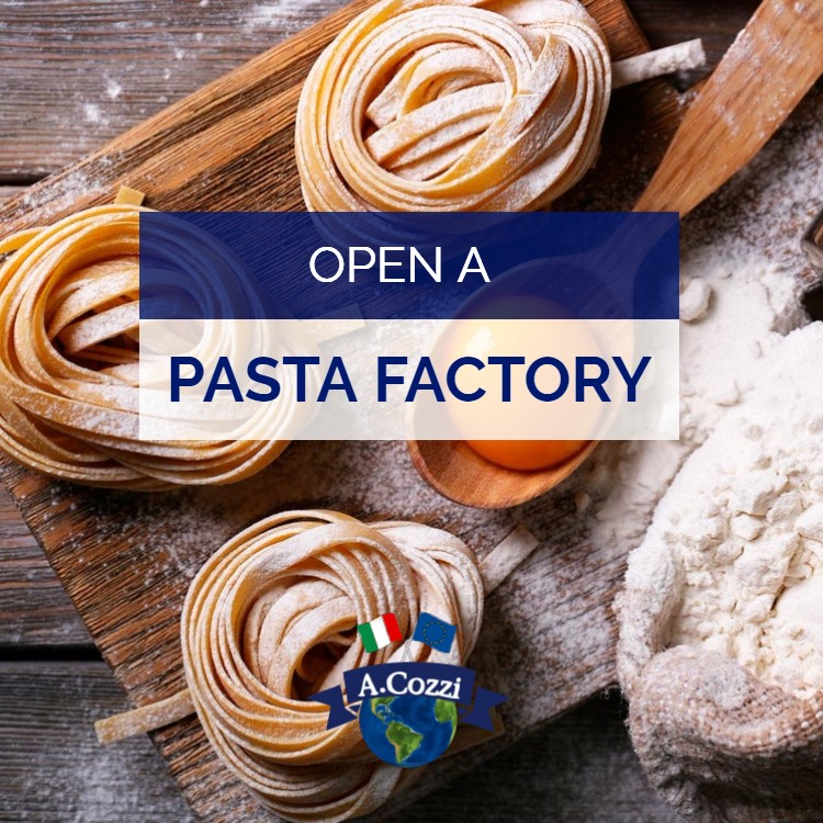 Open a pasta factory for the production of fresh, dried and egg pasta