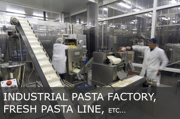 Industrial pasta factory, fresh pasta line, etc...
