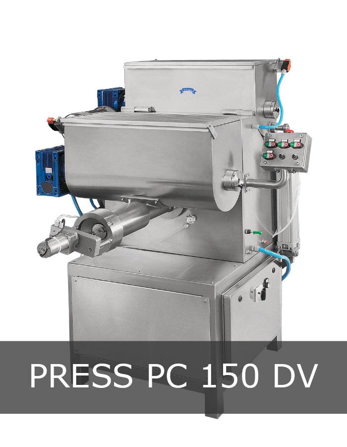 Pasta extruder machine mod. PC 150 DV