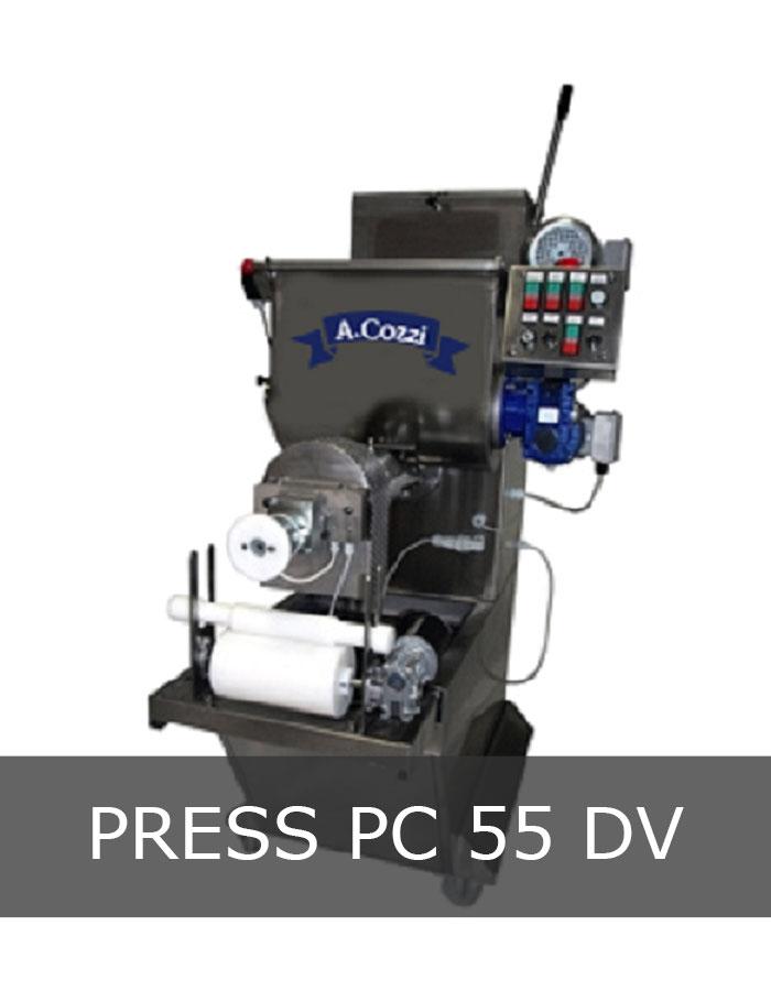 Pasta extruder machine mod. PC 55 DV