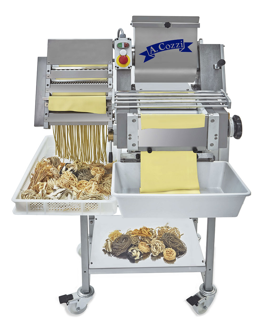 Semi-automatic cutter for fresh pasta